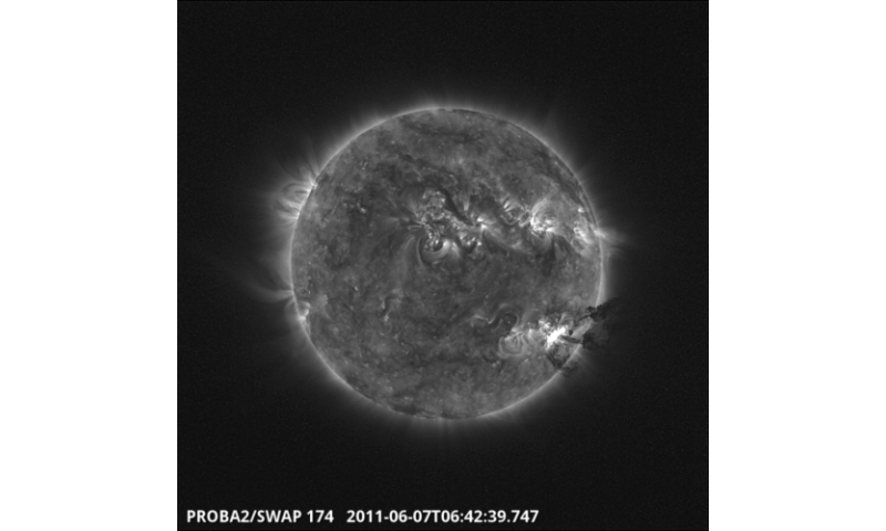 Small sun-watcher proba-2 offers detailed view of massive solar eruption