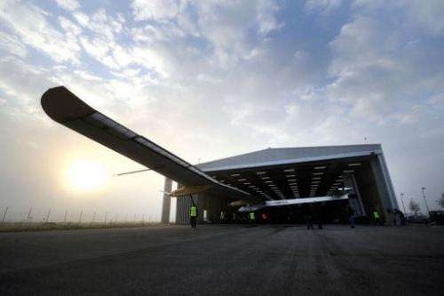 Solar Impulse HB-SIA has the wingspan of a large airliner but weighs no more than a saloon car