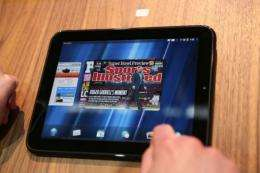 The HP Palm tablet, TouchPad