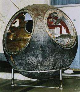 1961 Soviet space capsule selling at NYC auction (AP)