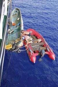 Russian ship finds tsunami debris where scientists predicted