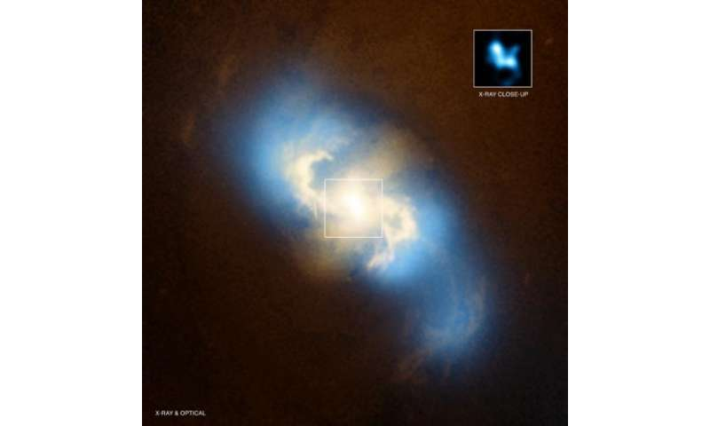 Chandra Finds Nearest Pair of Supermassive Black Holes