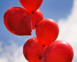 Searching for balloons in a social network