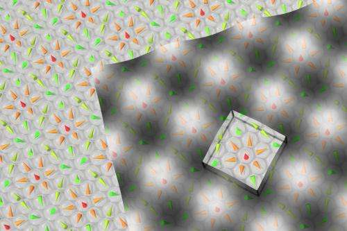 Atomic-scale Magnetic Lattice of Skyrmions