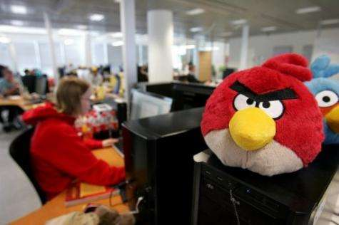 """""""Angry Birds"""" mobile phone game launched a small Finnish software company into worldwide fame"""