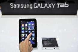 Apple claims Samsung's Galaxy Tab is an imitation of the iPad