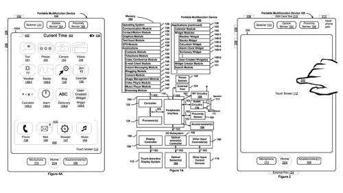 Apple granted smartphone touchscreen patent