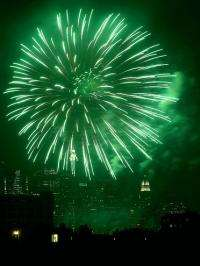 Army pyrotechnic experts find non-toxic alternative for green fireworks