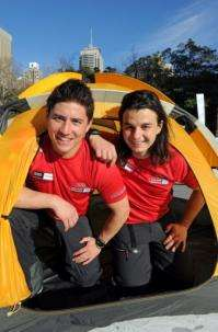 Aussie adventurers, Justin Jones (L) and James Castrission, are familiar with extremes