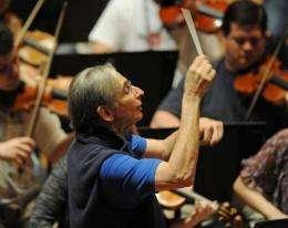 Award winning conductor Michael Tilson Thomas rehearses in Sydney