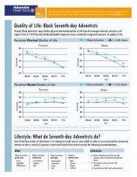 Black members of Adventist church defy health disparities, study shows