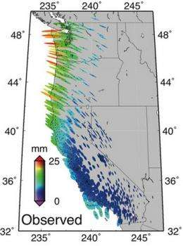 Caltech researchers use GPS data to model effects of tidal loads on earth's surface