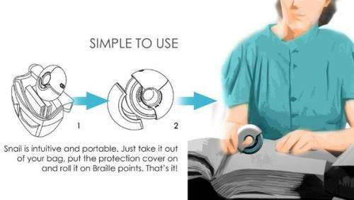 Snail Braille reader could read books to the blind