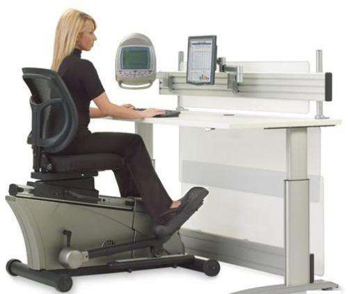 Hammacher Schlemmer releases $8000 Elliptical Machine Office Desk set