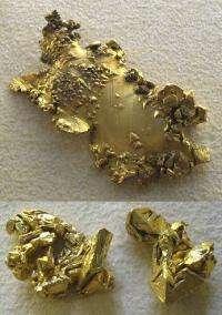 Cosmic crashes forging gold