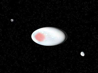 Dwarf planet Haumea shines with crystalline ice