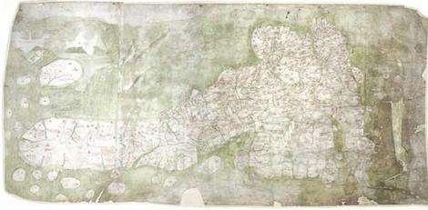 Earliest medieval map of Britain put online