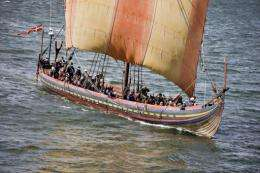 File illustration photo shows a replica Viking ship in Northern Jutland
