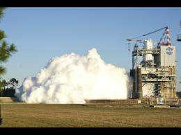First J-2X combustion stability test a success
