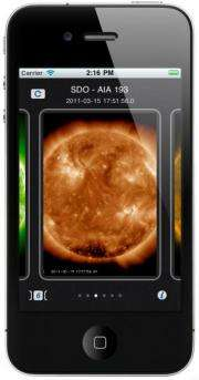 Fortuitous timing for NASA's new space weather app