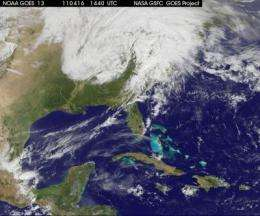 GOES-13 satellite animation shows US severe storms and tornado outbreak