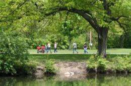 Green environments essential for human health