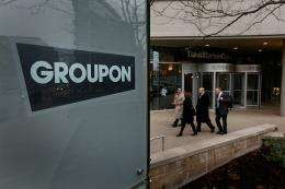 Groupon said Thursday that it was seeking to raise as much as $750 million in an initial public offering