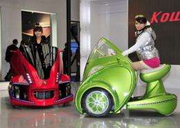 """Japan's robot venture Kowa-tmsuk unveils its electric personal mobility """"Kobot"""""""