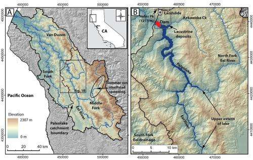 Evidence of ancient lake in California's Eel River emerges