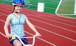 Kids with Down syndrome who bike ride are less sedentary overall