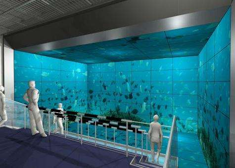 Large multi-screen display system provided for Huis Ten Bosch theme park in Nagasaki, Japan