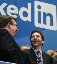 LinkedIn's stock up 90 percent in market debut (AP)