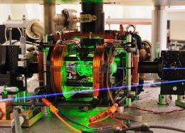 Two atoms entangled using microwaves for the first time