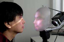 Mask-bot: A robot with a human face