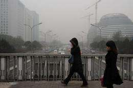 Millions of Chinese went online Tuesday to vent their anger over the thick smog that has blanketed Beijing