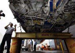 'Miracle on the Hudson' plane preps for final trip (AP)