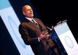 Mohamed ElBaradei addresses the opening session of the Dubai Global Energy Forum