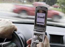 More drivers texting at wheel, despite state bans (AP)