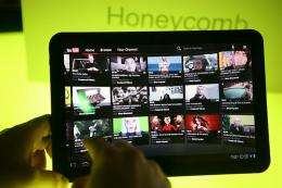 Motorola's new tablet Xoom, which is operated by Android 3.0 Honeycomb