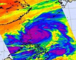 NASA sees a 14-mile-wide eye and powerful Super Typhoon Songda