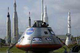 NASA's full-size Orion exploration test vehicle is displayed