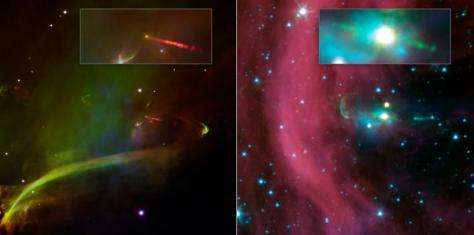 NASA's spitzer discovers time-Delayed jets around young star