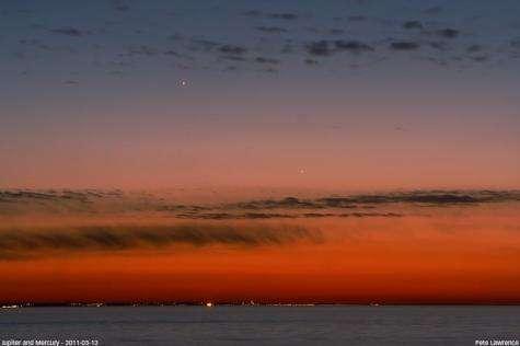 Mercury at sunset