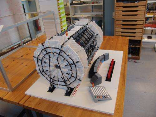 Physicist creates scale model of LHC ATLAS experiment of out LEGO blocks