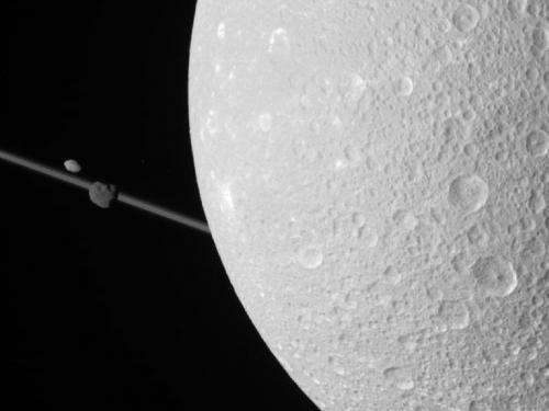 Portraits of moons captured by Cassini