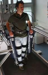 Robot legs helping stroke patients