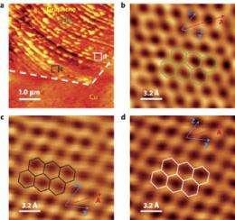STM of individual grains in CVD-grown graphene
