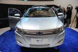 The Chinese BYD E6 electric car