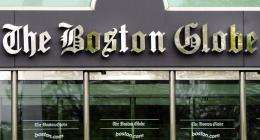 The front of The Boston Globe in Dorchester