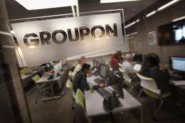 The Groupon at the company's headquarters in Chicago